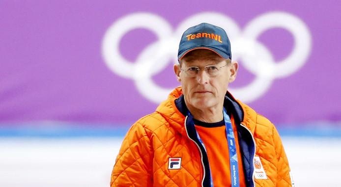 Jillert Anema tijdens de Olympische Winterspelen van vorig jaar.