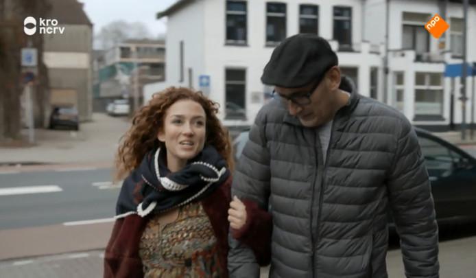 André met Katja in Enschede.
