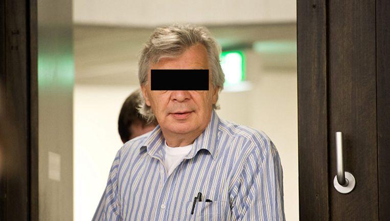 Robert D. in de rechtszaal in Stuttgart. Beeld epa