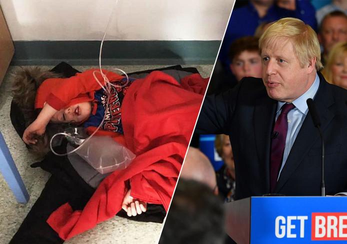 La photo de Jack faisait la Une du tabloïd de gauche Daily Mirror: ce garçon de quatre ans, présentant des symptômes d'une pneumonie, a été emmené en ambulance aux urgences d'un hôpital de Leeds (nord de l'Angleterre) puis contraint d'attendre plusieurs heures, couché par terre sur un manteau, pour être examiné.