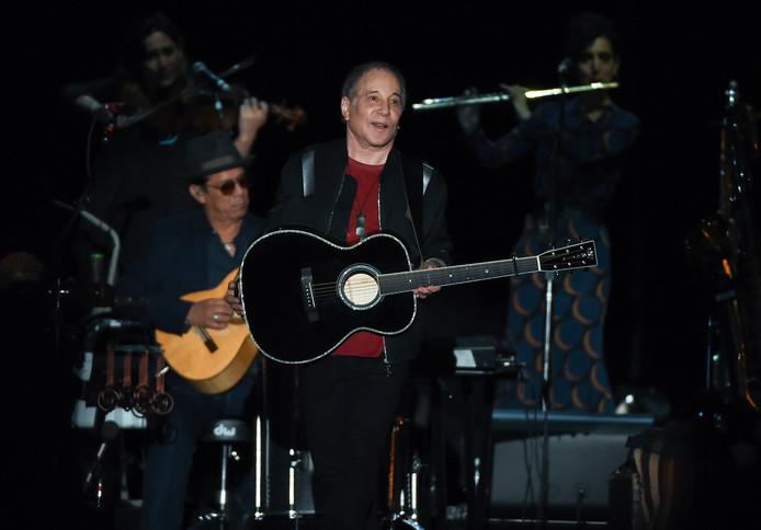 Paul Simon bij zijn afscheidstournee in Flushing Meadows Corona Park