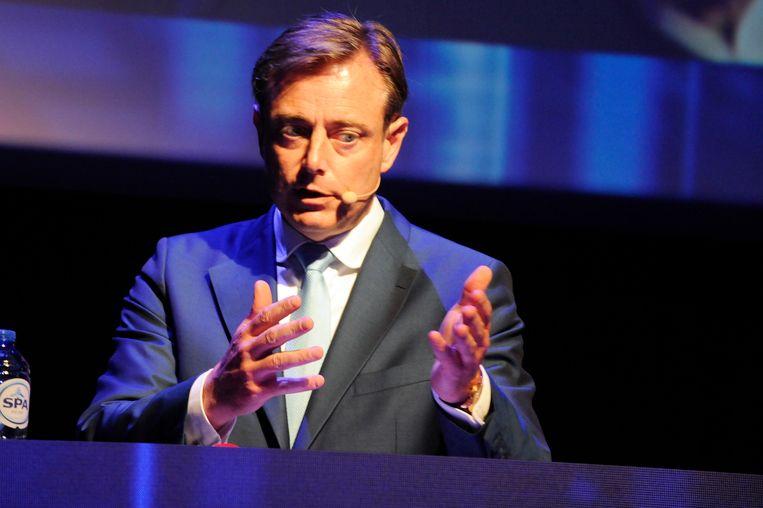 N-VA-voorzitter Bart De Wever tijdens het politiek debat bij technologiefederatie Agoria.