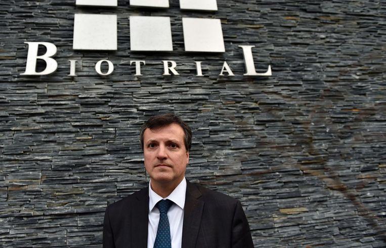 De directeur-generaal van Biotrial, Francois Peaucelle. Beeld afp
