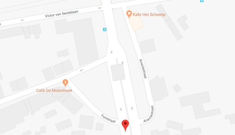 Ongeval aan de Acaciastraat in Wetteren