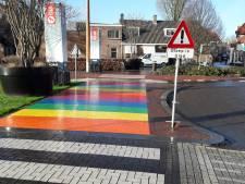 Nog even opletten bij regenboogpad Harderwijk