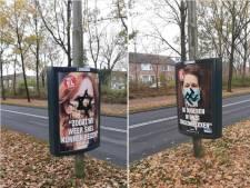 Meerdere coronaposters in Etten-Leur beklad met antisemitische symbolen: 'Dit is zo onsmakelijk'