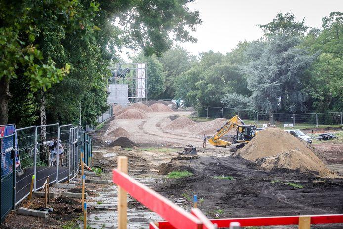 De uitbreiding van de parking 't Zand gebeurt onder het Koning Albert I-park.