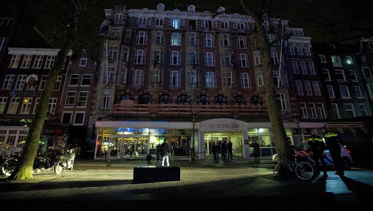De Brit was donderdagnacht betrokken bij een vechtpartij op het Rembrandtplein Beeld anp