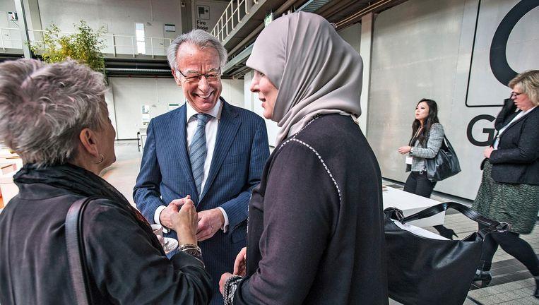 Jozias van Aartsen woensdaag bij een internationale conferentie in Den Haag over het gevaar van terugkerende kalifaatgangers. Beeld Guus Dubbelman / de Volkskrant