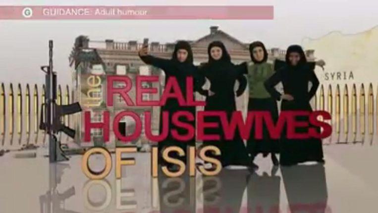 Een still uit de IS-sketch van de BBC. Beeld