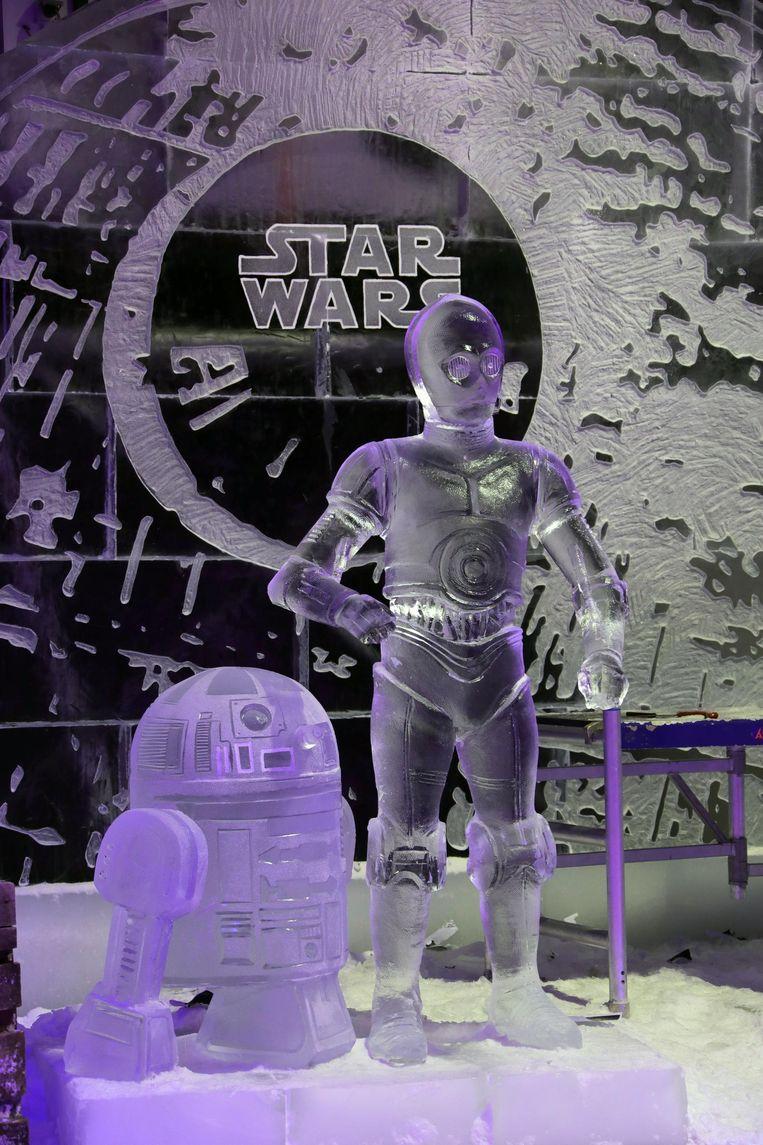 R2D2 en C3PO uit Star Wars.