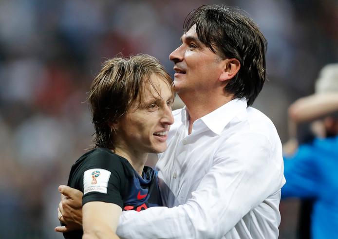 Zlatko Dalic  met sterspeler Luka Modric.