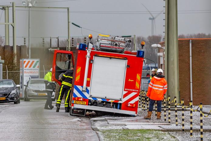 Brand verdeelstation Geertruidenberg