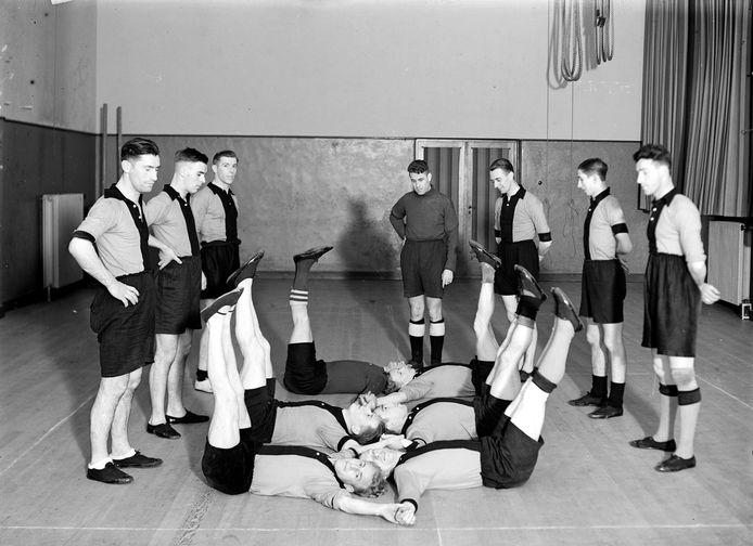 Een training van BVV in de gymzaal.