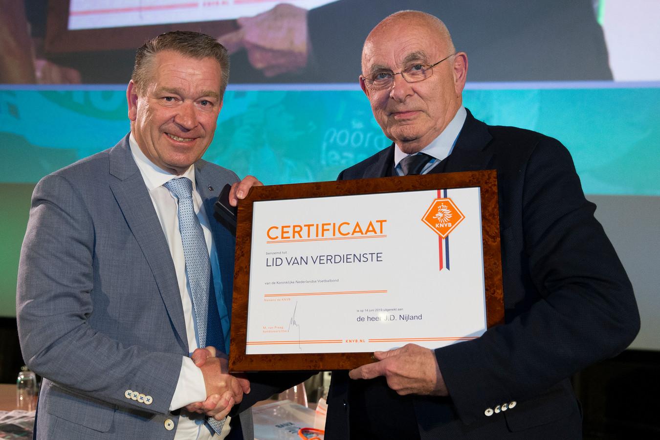 Afscheidsreceptie Hans Nijland, Certificaat Lid van Verdiensten, Michael van Praag