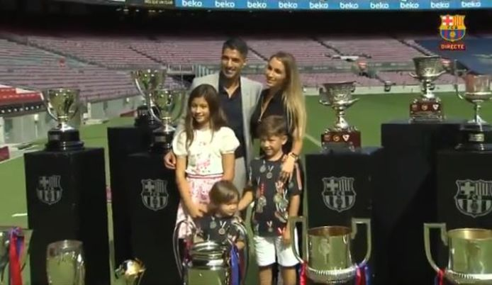 Met vrouw Sofia, dochter Delfina en zoontjes Lautaro en Benjamin.