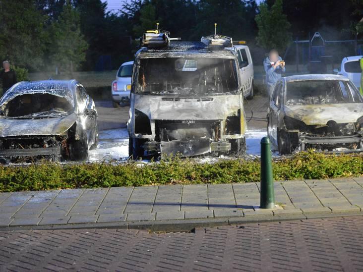 Drie auto's verwoest bij brand op parkeerplaats in Etten-Leur