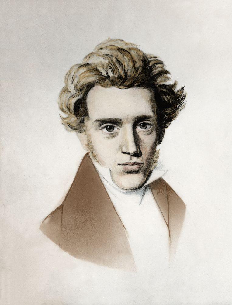 Kierkegaard, omstreeks 1838 getekend door zijn neef Niels Christian Kierkegaard. Beeld AKG