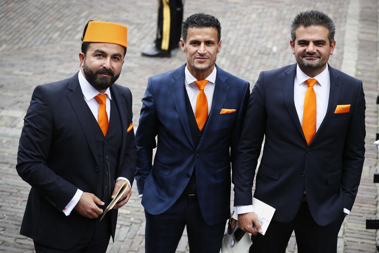 Toen alles nog goed was: Tweede Kamerfractie leden van Denk Ozturk, Azarkan en Kuzu (vlnr) arriveren bij de Ridderzaal op Prinsjesdag 2018.