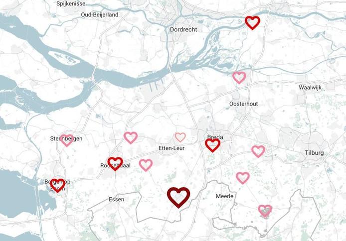 De liefde in West-Brabant in cijfers