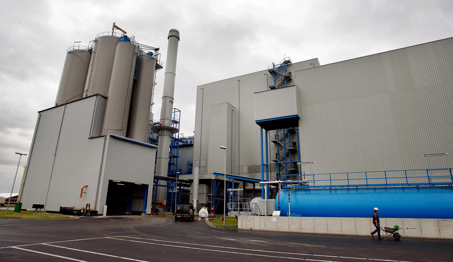 De biomassacentrale in Moerdijk