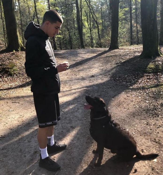 Aitor Cantalapiedra en zijn hond