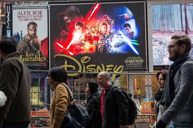Aankondiging van de nieuwe Star Wars in New York. Beeld afp