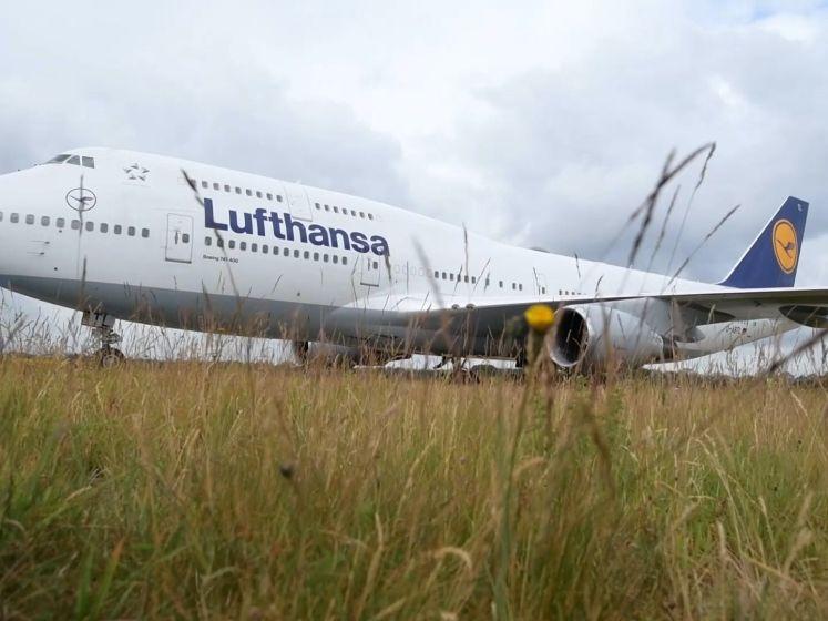 Zo kwamen de Boeings  van Lufthansa aan op Twente Airport
