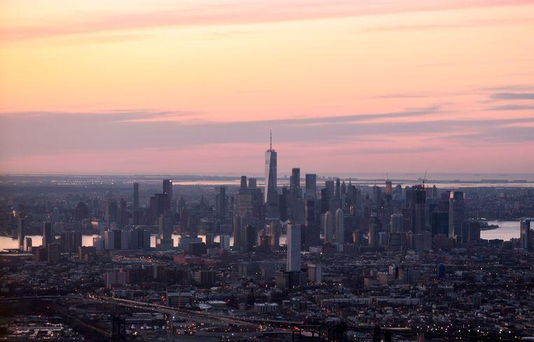 De skyline van Manhattan, New York