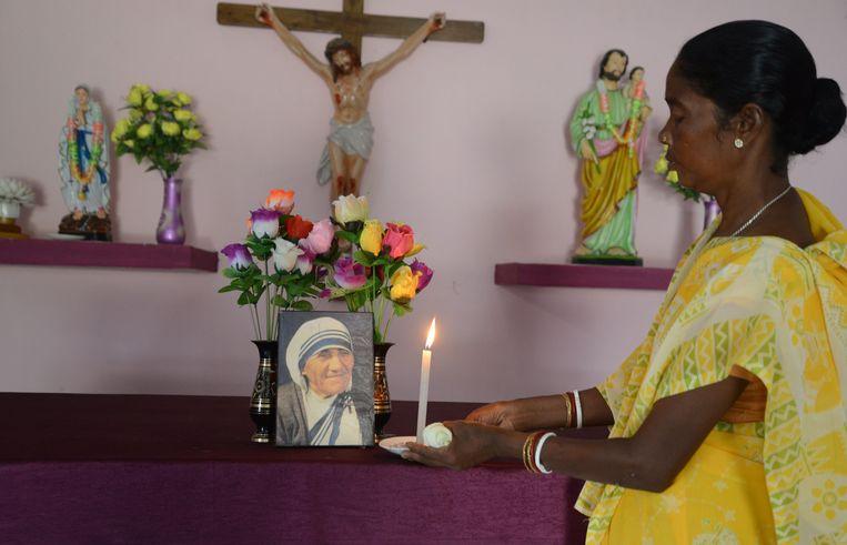 Een mirakel van Moeder Teresa zou deze Monica Besra genezen hebben van hevige buikpijn.