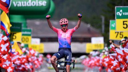 Carthy voert straf nummertje op in loodzware slotrit Ronde van Zwitserland, Bernal eindwinnaar