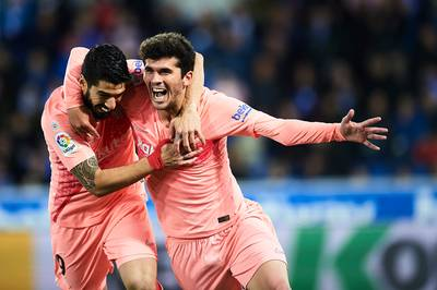 Barcelona is bijna kampioen na eenvoudige uitzege