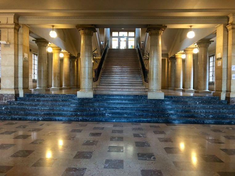 De rechtbank in Leuven waar het viertal zich moest verantwoorden.