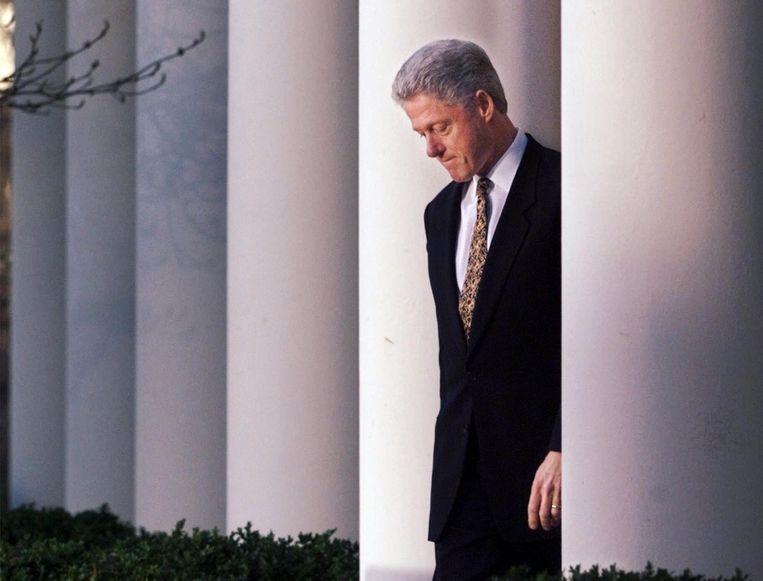 President Bill Clinton overleefde een afzettingsprocedure naar aanleiding van de Lewinsky-affaire. Beeld ap