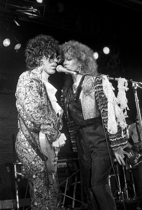 Prince en Sheila E. Foto uit 1984.