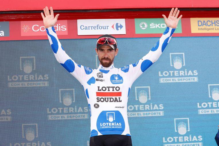 Thomas De Gendt is de eerste Belg die het bergklassement van de Vuelta wint.