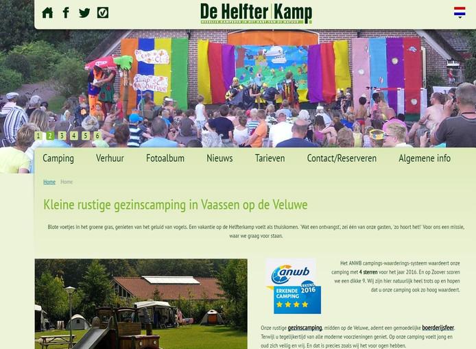 De site van camping Helfterkamp