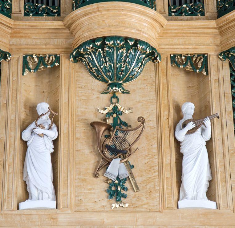 Het gerestaureerde orgel, dat uit 1810 stamt, staat deze week centraal op een orgelfestival in Soest. Beeld rv