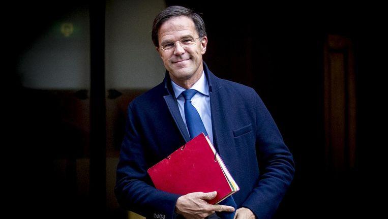Premier Mark Rutte Beeld null