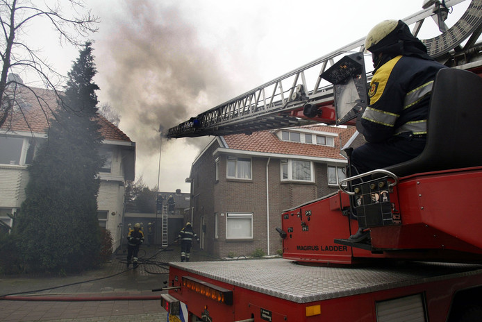 De brand bij MassageWereld aan de Leenderweg in Eindhoven.
