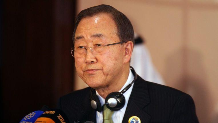 Secretaris-generaal van de Verenigde Naties Ban Ki-moon. Beeld afp