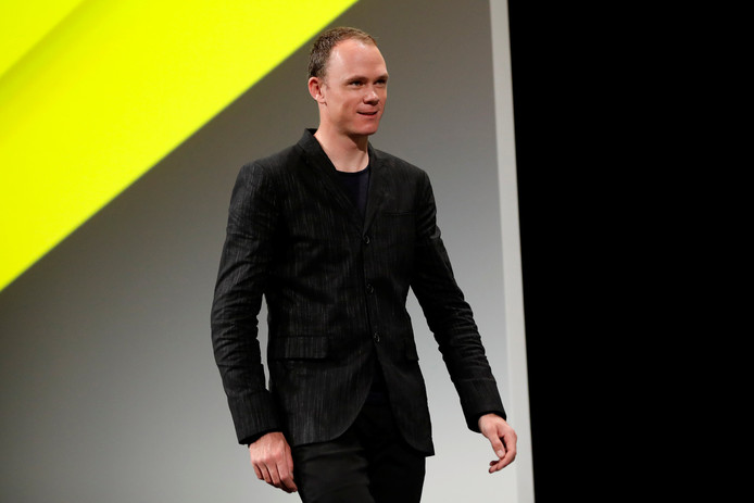 Cyclist Chris Froome attends a news conference to unveil the itinerary of the 2019 Tour de France cycling race in Paris, France, October 25, 2018. The world's greatest cycling event will start from Brussels on July 6 and will finish on the Champs Elysees in Paris on July 28. REUTERS/Gonzalo Fuentes