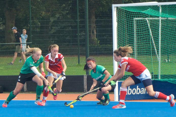 De hockeysters van Upward verloren zondag van Zwolle. Archieffoto