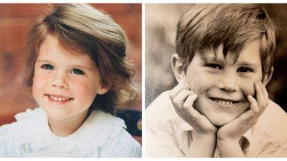Britse hof geeft zeldzame kinderfoto's van prinses Eugenie en haar verloofde vrij