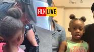 HLN LIVE. Vertederend moment: agent omhelst 5-jarig meisje wanneer zij hem bang benadert tijdens Floyd-protest in Texas