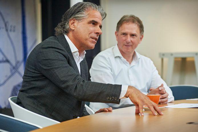 Peter Taylor Parkins (l) en Arno Smits staan stil bij de stappen die de afgelopen maanden werden gezet.