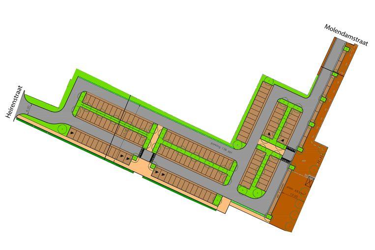 Op de vernieuwde parking zullen 136 auto's kunnen staan.