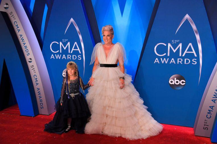 Pink verscheen onlangs met haar dochter op de rode loper.