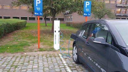 Nieuw laadpunt voor elektrische voertuigen  in provinciaal domein De Gavers