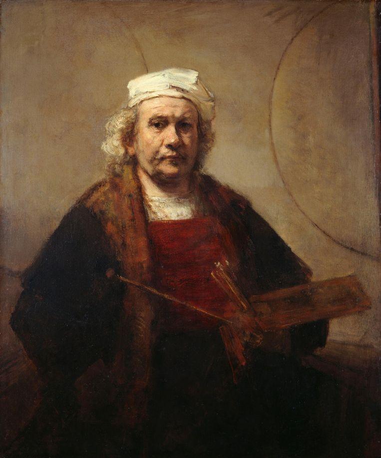 Schilderij: Zelfportret Rembrandt Beeld Collectie Rijksmuseum
